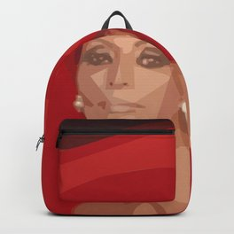 Lady In A Red Hat Backpack