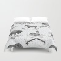 political Duvet Covers featuring Political Toile by Jessica Roux