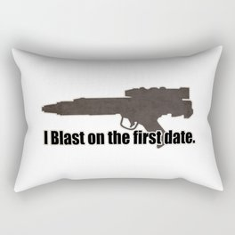 I blast on the first date Rectangular Pillow
