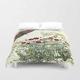 Shaking the wainscot where the field mouse trots Duvet Cover
