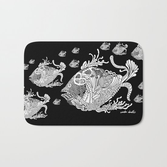 Dragon Fish Bath Mat