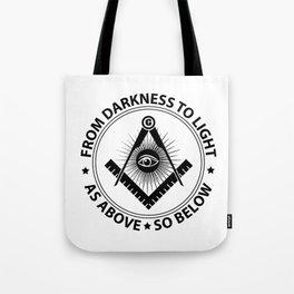 Freemasonry emblem Tote Bag