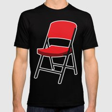 Folding Chair Black Mens Fitted Tee MEDIUM