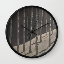 Birch Forest - Spring is coming Wall Clock