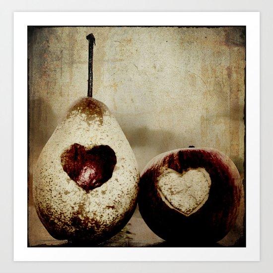 a pear in love Art Print