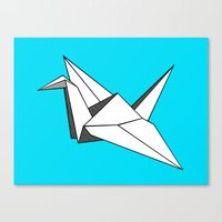 origami Canvas Prints featuring origami by elyinspira