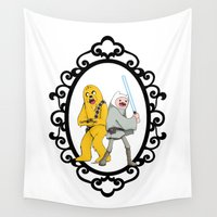jedi Wall Tapestries featuring Jedi Finn & Wookie Jake by createASAP