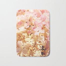 Blush Pink Abstract Spring Floral   Easter   Millennial Pink Bath Mat