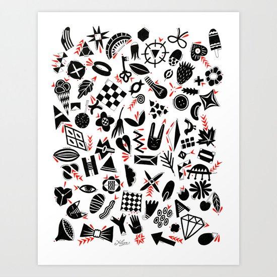 Black and white pattern Art Print