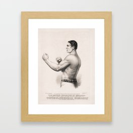 Tom Sayers - English Bare-Knuckle Champion Framed Art Print
