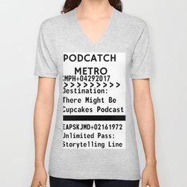 Podcatch Metro: Storytelling Line Unisex V-Neck