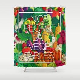 Nice People Eat Vegetables (Feat. Lidija Paradinovic) Shower Curtain