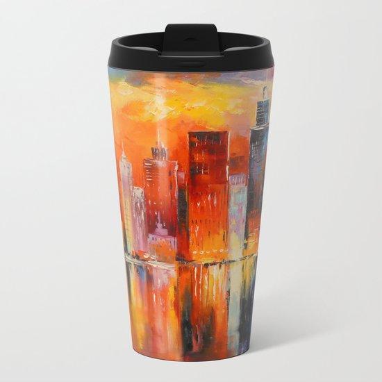 Evening new York Metal Travel Mug