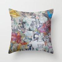 propaganda Throw Pillows featuring WHATEVER (PROPAGANDA) by Brandon Neher