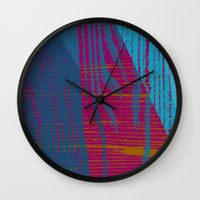 reassurance Wall Clocks featuring Feel the texture III by Magdalena Hristova