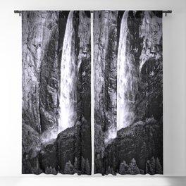 Bridalveil Falls. Yosemite California in Black and White Blackout Curtain