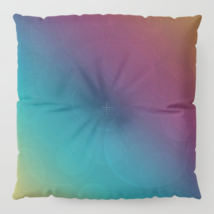 Bohek Bubbles on Rainbow of Color - Ombre multi Colored Spheres Floor Pillow