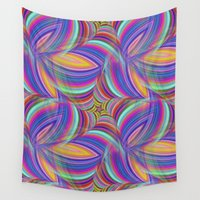 psychedelic Wall Tapestries featuring Psychedelic by David Zydd - Colorful Mandalas & Abstrac