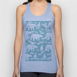 Polar gathering (peppermint) Unisex Tank Top
