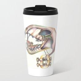 Skull Guitar Metal Travel Mug