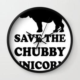 Save The Chubby Unicorn_ Funny Rhino Wall Clock