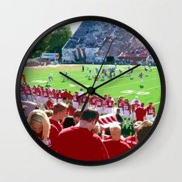 Cream and Crimson Football Wall Clock