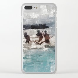 D-Day Landing, WWII Clear iPhone Case