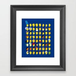 Springfield Follicles Framed Art Print