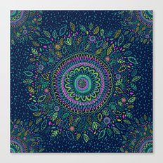 Midnight Garden Mandala Canvas Print