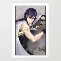fire emblem Art Prints featuring Chrom -Fire Emblem Awakening- by Xizeta