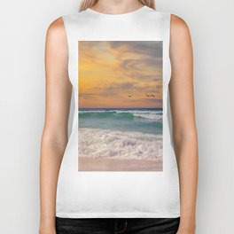 Navarre Beach Sunset Biker Tank
