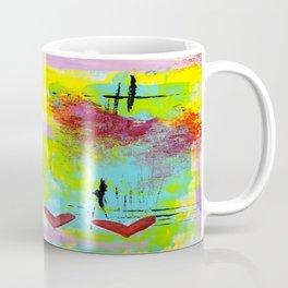 Three Hearts Abstract Coffee Mug