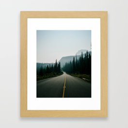 Road trip to the mountains Framed Art Print