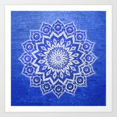 okshirahm, blue crystal Art Print