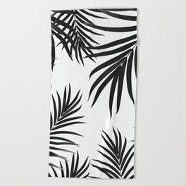 Palm Leaves Pattern Summer Vibes #2 #tropical #decor #art #society6 Beach Towel