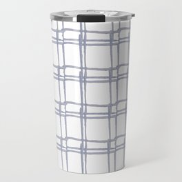 Tic Tac Toe Chambray Travel Mug