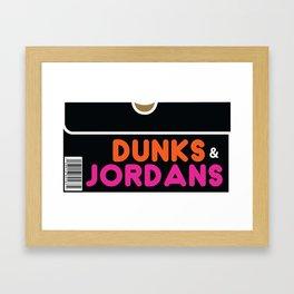 Dunks & Jordans Framed Art Print