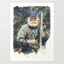 Flute Player Sept 2014 Art Print