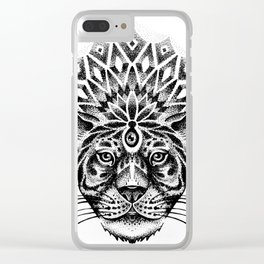 Trance tiger Clear iPhone Case