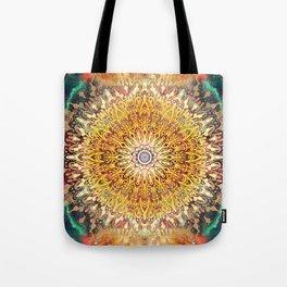 Cygnus Cosmic Mandala Tote Bag