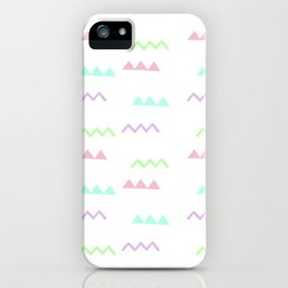 Abstract pink teal minimalist geometrical pattern iPhone Case