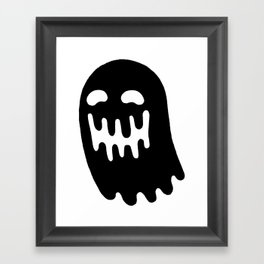 Dripping Ghost Framed Art Print