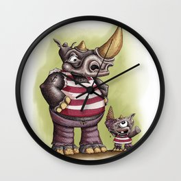 Rinho father and son Wall Clock