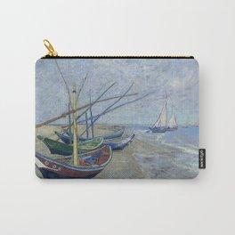 Vincent van Gogh -   Fishing Boats on the Beach at Les Saintes-Maries-de-la-Mer, 1888 Carry-All Pouch