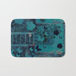 butterflies_I turquoise Bath Mat