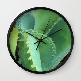Kalanchoe and Aloe Wall Clock