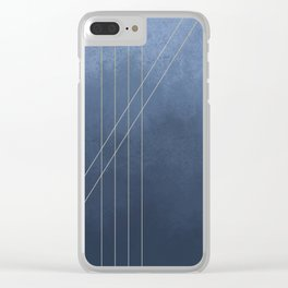 Moods in Blue-Gray Clear iPhone Case