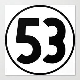 53 = Winning Canvas Print