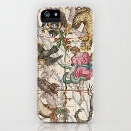 Vintage Constellation Map - Star Atlas - Sagittarious - Scorpio iPhone Case