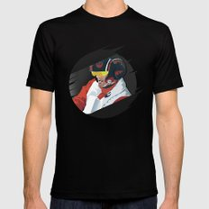 Poe Dameron Mens Fitted Tee Black SMALL